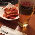 焼肉平城苑本館 - ビールはアサヒ氷温