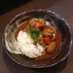 カレー専門店 大文字 - つくね入り根野菜カレー