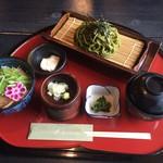 56693429 - ミニ丼と抹茶そばランチ