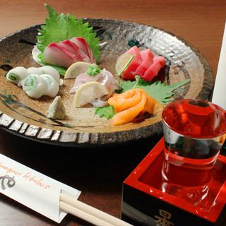 旬の魚介や新鮮野菜を使用