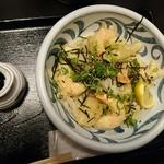 Fukuchan - 小海老天と揚げ餅ぶっかけ