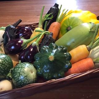 野菜をたっぷり使用した料理