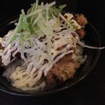 ちょんまげ食堂 ラーメン部 - 唐揚げ丼プラス270円