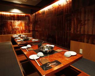 もつ吉 本店 - 最大30名様までの個室、ほりごたつをご用意しています。