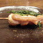 三代目 鳥メロ - 自慢の備長炭焼からささみ梅しそ串190円