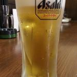 三代目 鳥メロ - 此方のお店のウリの生ビール199円はスーパードライ