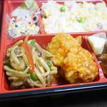 シャンハイデリ - 牛肉ピーマン炒め・鶏唐揚げチリソース