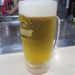 いっちゃん - 生ビール(中) 500円(税込)