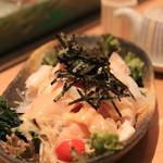 豊魚 - お刺身サラダ 800円のわりにお魚が豊富!