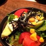 月ひめ - 豆腐サラダに海苔⁉