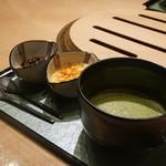 焼肉 銀座 コバウ - 水しんげん餅、抹茶