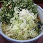 56714996 - 春菊天蕎麦(400円)ネギ多め