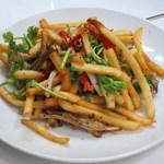 味坊 - 香脆薯絲(ジャガイモとチャシューの香草和え)