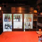 波平キッチン - 地酒ずらり