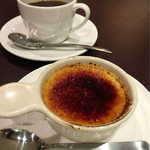 Sucre - デザートの『クレームブリュレ』と『コーヒー』