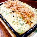 ちきんはーと - 山芋と魚介のふわふわ鉄板焼き