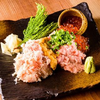 新鮮な魚介が人気。コストパフォーマンスが自慢です。