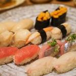 楽処 たかはし - 寿司盛り合わせ 別アングル『3500円コース』