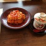 日本料理 ちくま庵 - お子様御膳のオムライス&茶わん蒸し