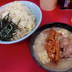 ラーメン二郎 - つけめん・ヤサイニンニク(800円)
