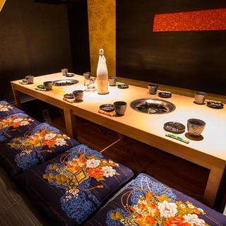 VIP席含む、洗練された個室空間