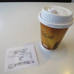 マクドナルド - ドリンク写真:ホットコーヒーS100円(内税)。