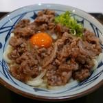 丸亀製麺 - 牛すき釜玉(640円)