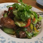 ベトナム料理 オーセンティック - 鶏肉のスパイシー唐揚げ野菜あんかけ