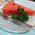 魚重楼 - デザートのスイカ