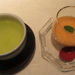 和食 浮橋 - 柿のプリン