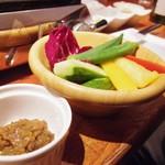 ノーミート ノーライフ - お通し 野菜