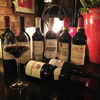 ソムリエ厳選のワインが豊富です!