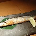 那古や 正 - 秋刀魚の塩焼き 580円