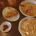 眞味 - チャーハン定食(台湾豚骨ラーメン)