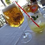 56809648 - ノンアルコールビールともう一つは柚子のノンアルコールカクテル