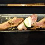 56813855 - 鴨肉の燻製
