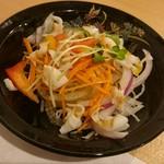 鮨 くろ澤 - ランチのサラダ。