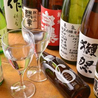 利き酒師厳選!日本全国の地酒50種類以上♪