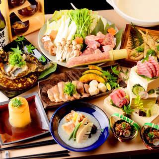 《選べるメイン鍋料理》朝獲れ真鯛or新鮮国産鶏