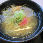 稚内空港レストラン - 宗谷の塩ラーメン@780円(税込み)