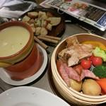 56829627 - ・「野菜とお肉のせいろ蒸しチーズフォンデュ(\1058×2)」