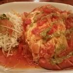 56829766 - ソーセージと完熟トマトのオムライス(スープ、ドリンク付き)1000円