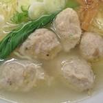 56833839 - 軍鶏のつみれはフワッとした柔らかさのある食感!