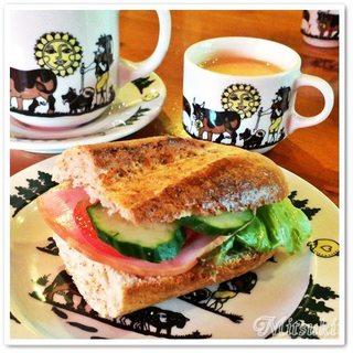 シャレー スイス ミニ - サンドイッチセット <3> 全粒バゲットサンドセット