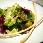 トラットリア ノンナ - 4種葉野菜のサラダ