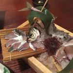 釣船茶屋 ざうお - 鯵の刺身