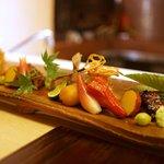 銀座 奥田 - 天然大鰻、甘鯛の松茸巻