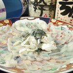 居酒屋 遊心 - 『ふぐのお刺身』その他に唐揚・一夜干も格安で食べられます。