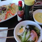 松屋レストラン - 料理写真:H28年10月、パスタランチ(1,180円税抜き)