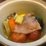 恵那ラヂウム温泉館 - これ美味しかったアヒージョだそう(野菜の?)